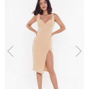 Nasty Gal Plunge Down Mini Dress